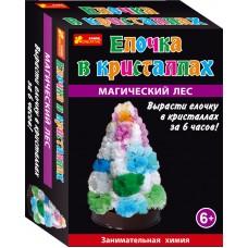 Ёлочка в кристаллах (разноцветная)