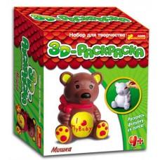 3D-раскраска. Медведь