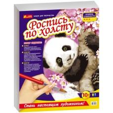 Роспись по холсту. Панда